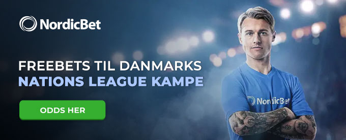 Odds på Danmarks Nations League kampe og få freebets