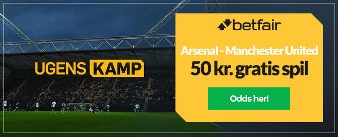 Odds på Arsenal - Manchester United
