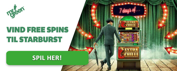 Vind free spins til Starburst hos Mr Green