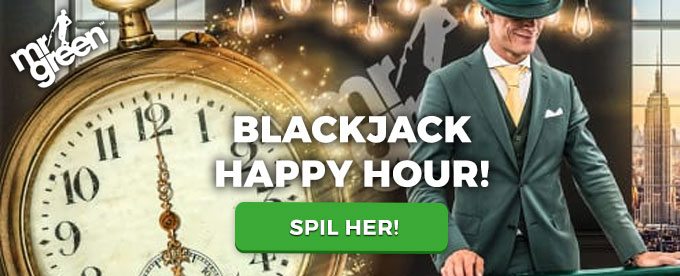 Vind kontanter ved Blackjack Happy Hour
