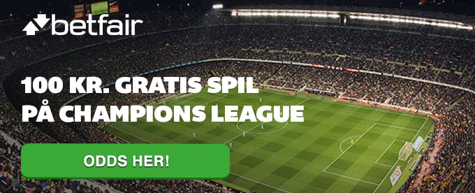 Odds på Champions League og få 100 kr.