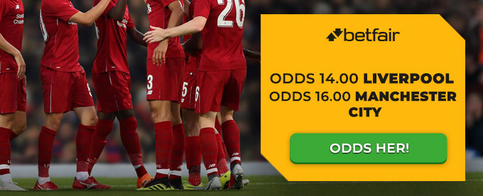 Få odds 14.00 på Liverpool og odds 16.00 på Man. City