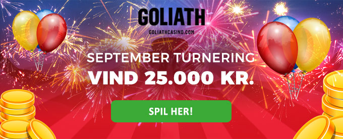 Goliath Casino september konkurrence - vind 25.000 kr.