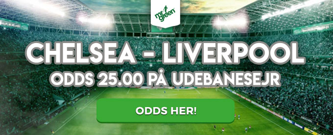 Odds 25.00 på Liverpool sejr over Chelsea i Premier League
