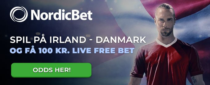Free bet for at oddse på Irland  - Danmark