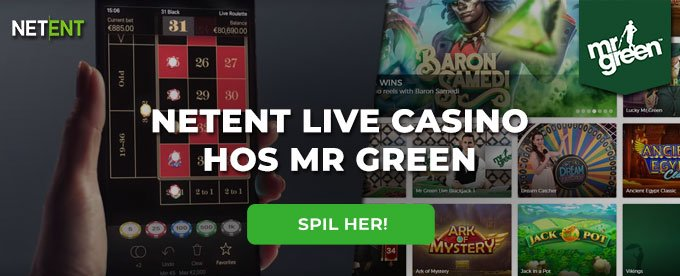 NetEnt Live Casino hos Mr Green