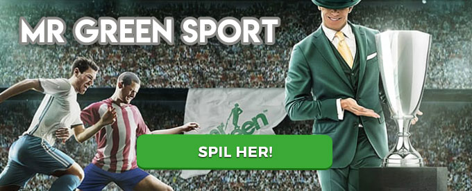 Mr Green Sport – start med 500 kr. free bet